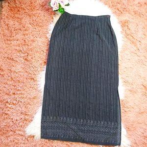Vintage Long 90's Y2K Grunge Acadamia Skirt
